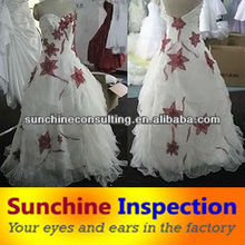 Wedding Dress Inspection Service / Garment Quality Inspection Service / Garment quality control and testing services