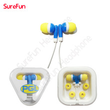 Ear phones - any pantone , in ear and wired trendy promotional head phones earphone packaged with silicone earbuds rubber cover