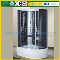 ABS bottom tub sauna shower room with bathroom fittings