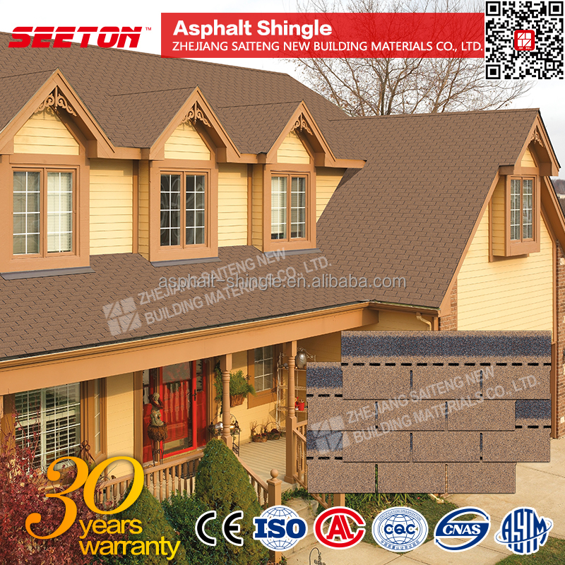 Desert Tan 3 tab roofing shingles wall tiles asphalt roofing materials