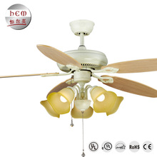 Most Attractive Elegant European Ivory 60W Decorative Air Cooling Ceiling Fans With Led Lights