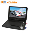 10 inch portable dvd player with digital tv tuner support DVB-T T2 Model:1088DT2
