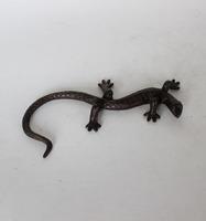 casting lizard bronze sculpture for home decoration