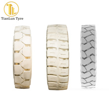 TianLun brands eco friendly solid tire non marking white forklift tires