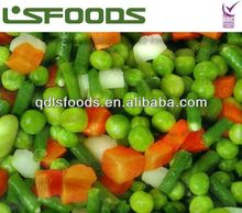 2014 Chinese Frozen mixed vegetable in 4 way(sweet corn, green pea,carrot,grean bean)
