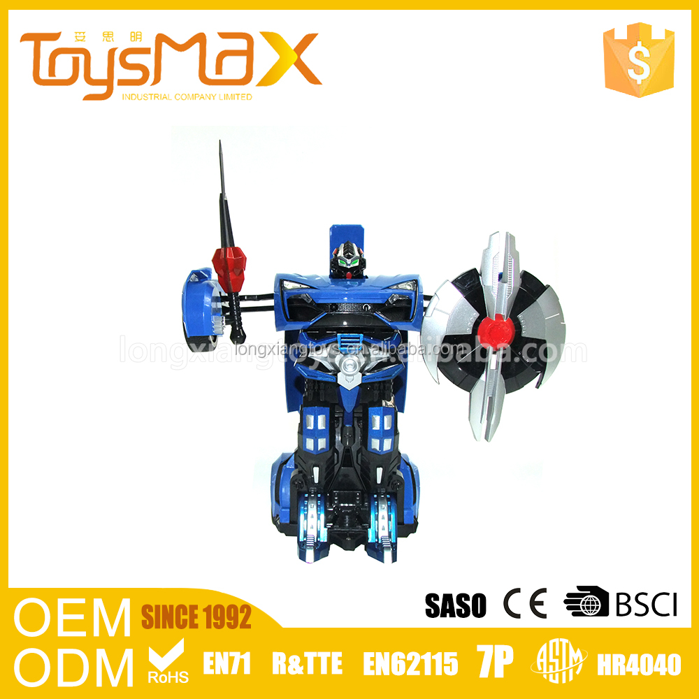 RC car toy 6 channel shooting smoking dancing function trans robot toy car for boys