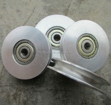 stainless steel single or double wheel wire rope swivel pulley with ball bearing