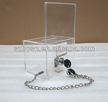 Acrylic Donation Box, Acrylic Ballot Box, Acrylic Suggestion Box