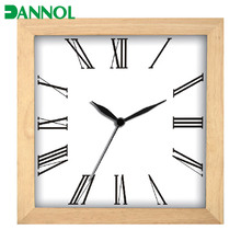 old fashion square wood frame home decor 12 inch wall clocks for sale