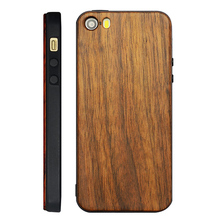 High Quality Wood Phone Case For Custom Logo Attachment Black Wood Cover for iPhone Wood TPU Case For iPhone 5,5s,se