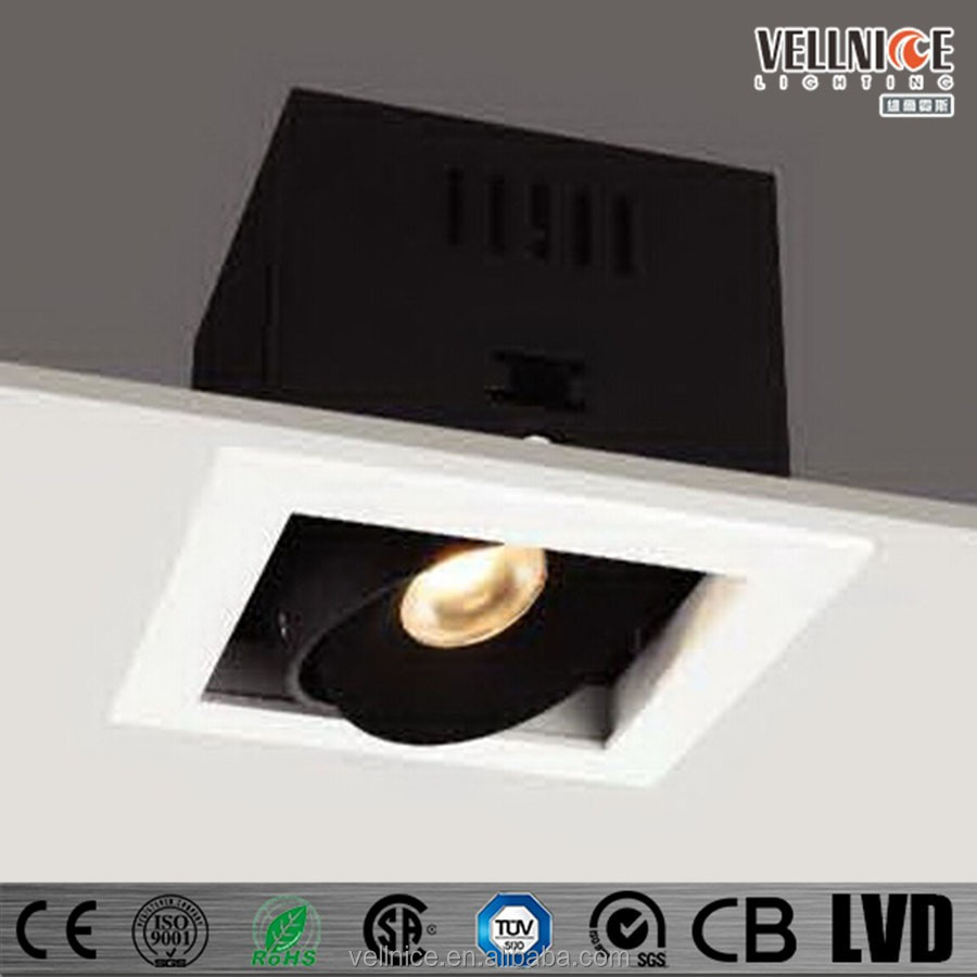 7w 10w 15w COB LED square recessed down light for home / department / hotel/franfhise shore R3B0080