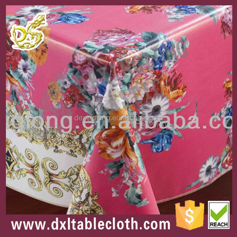 new products 2015 hand embroidery covers pvc edge restaurant table cloth