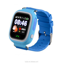 2018 factory waterproof kids gps smart watch compatible with android phones