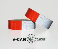 Motorcycle/Truck/Vehicle ReflectiveTape, White and Red Retro Reflective Tape ,Road Safety Reflective Tape, HI-INT-180012