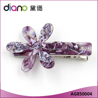 Fashion Colorful Acetate Plate Flower Hair Clips Alligator