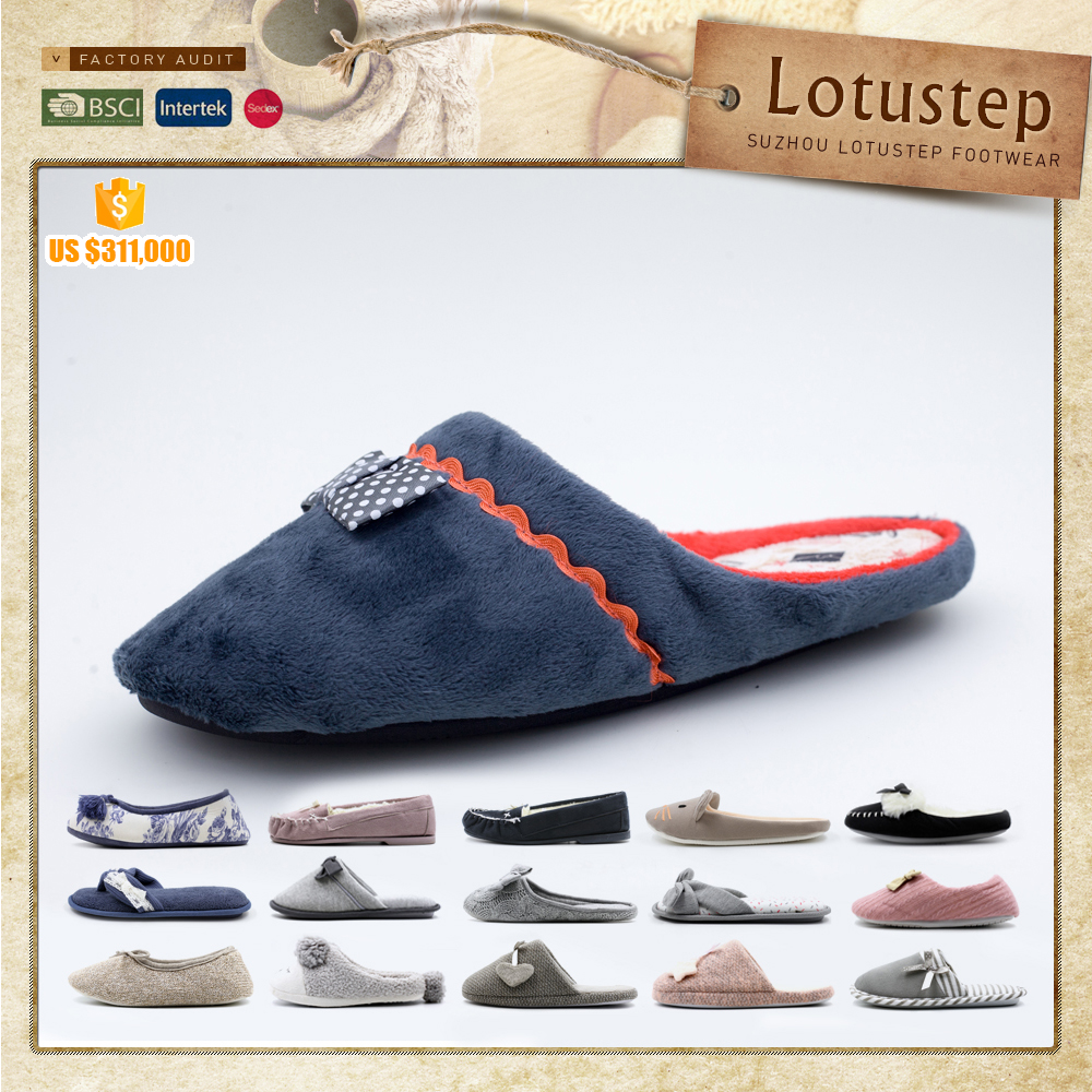 Various Colors House Use Fur Wear At Home Slippers