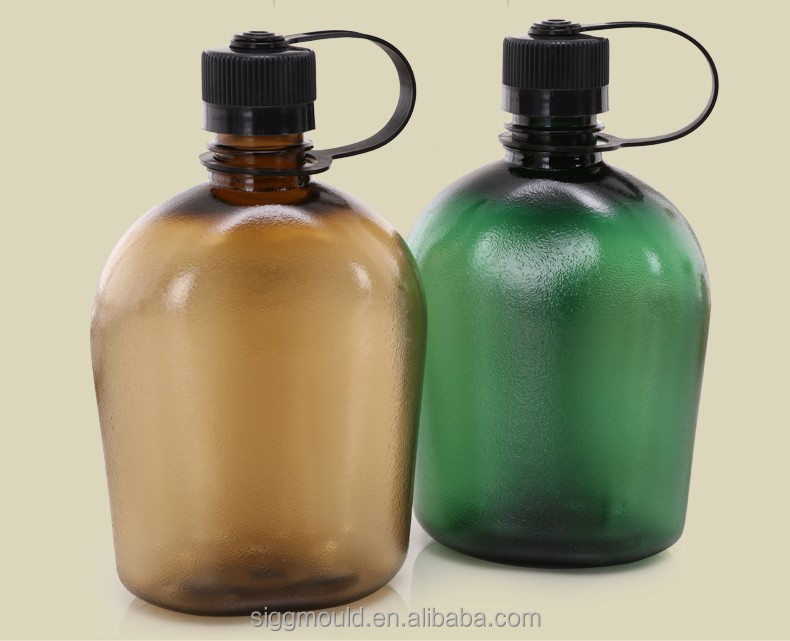 Sport water bottle plastic outdoor camping pot of 1000ML army canteen