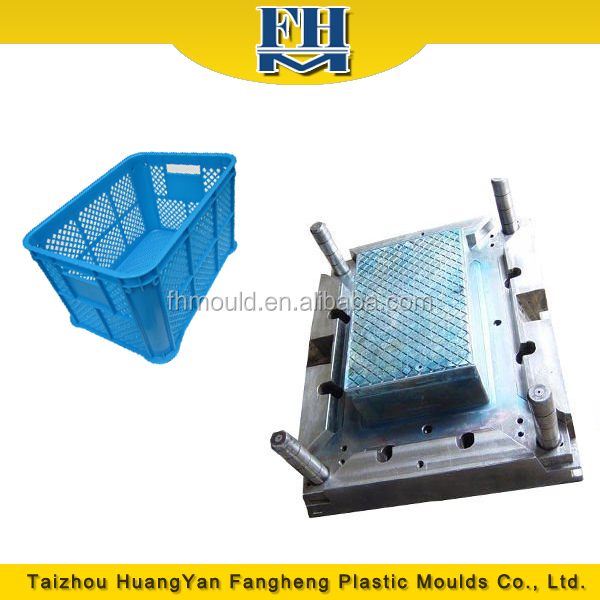 Taizhou Fangheng One Cavity Turnover Box mould Plastic Injection crate Mould