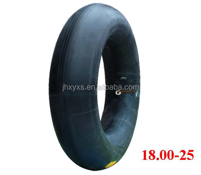 natural rubber Engineering Machinery Tire Tube 18.00-25, flaps, reclaimed rubber