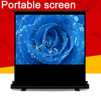Stand Floor Ground Business Matte White Portable 72inch 72'' 4:3 Projection Projector Screen