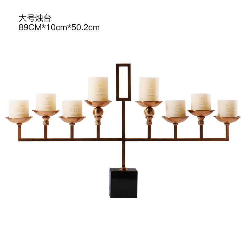 2018 new product home decorative neoclassical metal candle holder