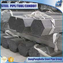 Carbon steel 1/2--8inch gal steel round pipe tube for construction