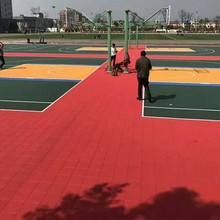 new pp plastic raw material outdoor widely used basketball courts for sale