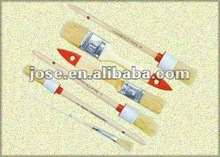 wooden handle round head paint brush