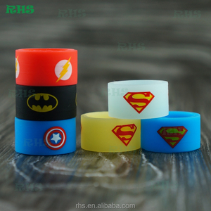 Lower Price custom Different Colors Silicone Vape Band Silicone Ring,RHS cheaper customized silicone vape band