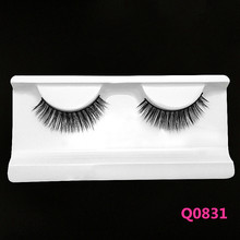 Factory Price Competitive Price clear invisible band false eyelashes hand made premium lashes 100% human hair strip eyelashes