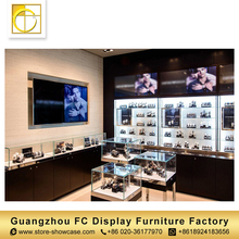 high quality glass showcase wall mounted watch display case shop display furniture watch display cabinet