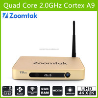 zoomtak T8 plus amlogic s812 dual wifi bluetooth 4.0 android 4.4 google tv box yahoo mail