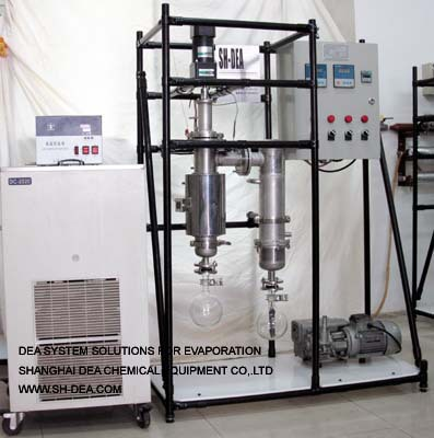 lab wiped film evaporator(TFE) BML-5 2007 models