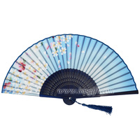 Stock products high quality Japanese silk folding hand fans