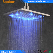 led rainfall shower head(self-powered led shower head,light shower)