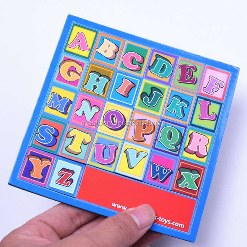 Custom educational colorful printing board magnet toy