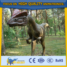 Hot sale amusement park animatronic dinosaur Dilophosaurus by Cetnology