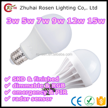 buy direct from china factory super bright SMD 2835 5730 chip 3w 5w 7w 9w 12w 15w plastic and aluminum LED bulb light