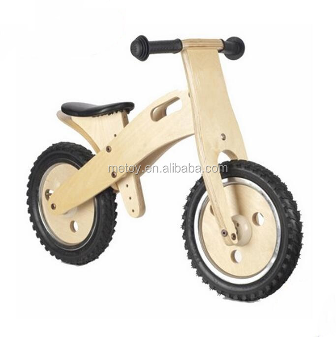 Natural plywood children wooden balance bike