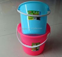 Cheap price plastic water pail plastic bucket with handle for sale