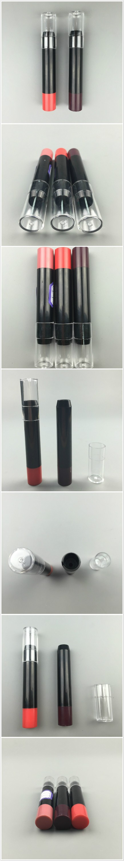 Hot selling custom UV slim black lipstick tube / case / container / packaging / box / packing