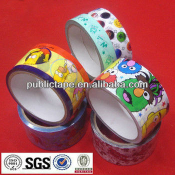 Printed BOPP packing tape colorful