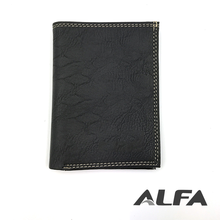 Alfa China Online Shopping Custom Made Branded Black PU Leather Wallet India
