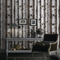 2018 Modern Style Wooden Design Wallpaper With A Pattern of Bamboo For Home Decoration