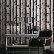 Modern Style Wooden Design Wallpaper With A Pattern of Bamboo For Home Decoration