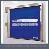 Interior high speed roll up door with PVC curtain HSD-044