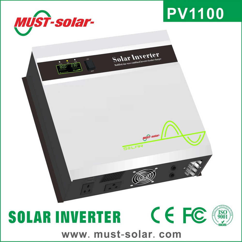 Off grid hybrid LED+LCD screen modified sine wave solar inverter with 30A PWM controller