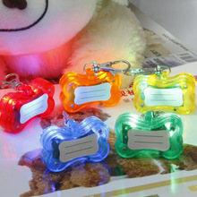 <strong>Pet</strong> Safety LED Flashing Dog Collar Light Tag <strong>Pet</strong> Supplies Bone-shape Tag