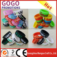 box mod 2016 custom logo silicone rubber wristbands ring vape band
