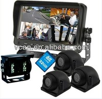 1080p car camera black box with 7 inch digital monitor